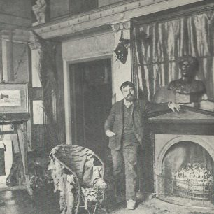 Sir Lawrence in his studio