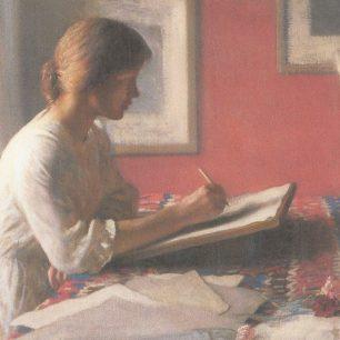 The student (the artist's daughter Meg)