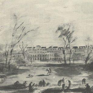 Digging trenches in Regents Park - Felix Topolski