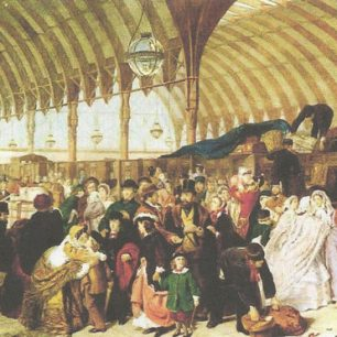 Paddington Station by W.P Frith | www.victorianweb