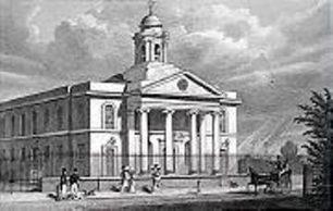 St John's Wood Chapel in 1827, now the Parish Church | London Metropolitan Archives