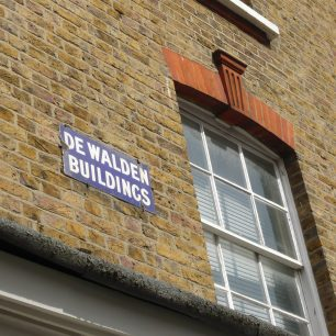 street sign, De Walden Buildings 2011 | Louise Brodie