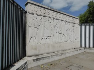 The frieze outside Lord's | Louise Brodie