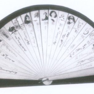 Painted fan signed by members of the Clique | Westminster City Archives