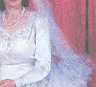The Queen's wedding dress