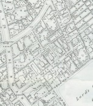 1868 map of Elm Tree Road | Westminster City Archives