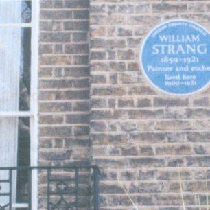 William Strang's plaque   Jeanne Strang