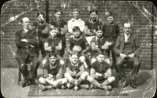 Barrow Hill School Football team photograph