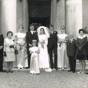 Mr and Mrs Brown at their son's wedding at St John's church | Brown family