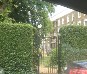 Gate into Alma Square gardens   Bridget Clarke