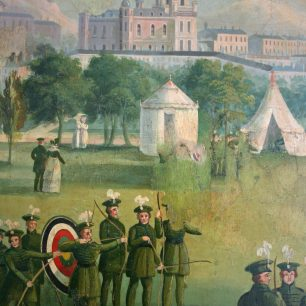 Part of the mural in the Abbey Tavern circa 1834 | Tony Groman