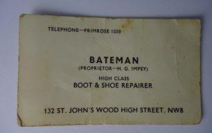 Henry George Impey at Bateman's, St Johns Wood High Street