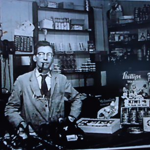 George Impey Snr in front  shop circa 1950's
