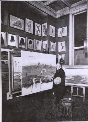 Frederick Goodall in his studio at Rosenstead | www.goodallartists.ca