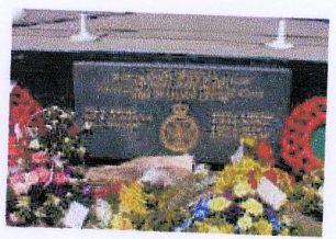 Memorial plaque on bandstand