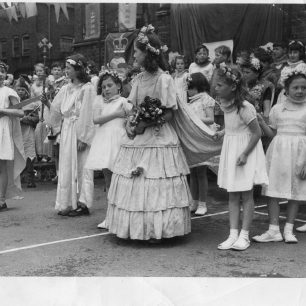1953 Coronation party, Jennifer just left of centre