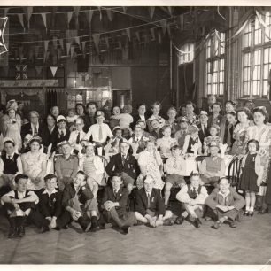 1953, Barrow Hill School gathering photo for coronation