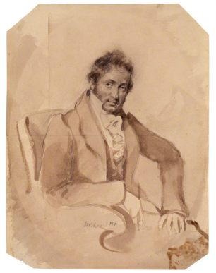 John Sell Cotman by Horatio Beevor Love 1830 pencil and wash | NPG 1372 with thanks to National Portrait Gallery