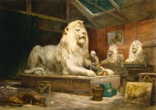 Landseer in Marochetti studio by Ballantyne | NPG