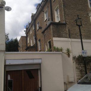 Back of shops on Nugent Terrace on the boundary | Bridget Clarke