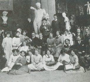 Pupils at the St John's Wood art school   A. Montgomery Eyre St John's Wood