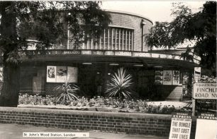 St John's Wood tube station before the flats were built above it