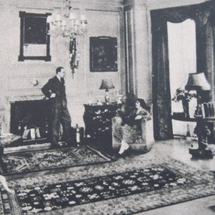 Mr & Mrs Nares in their living room | westminster Archives