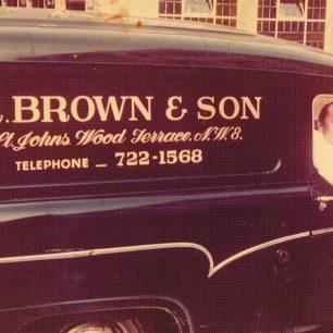 Maxie in the  van | Brown family