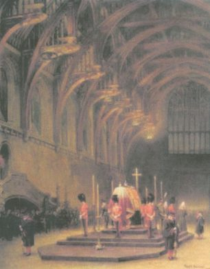 The Vigil of the Princes   Owned by the Royal Collection and published with the permission of the estate of Frank Beresford.
